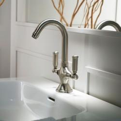 Rubinetto monoforo per lavabo con bocca girevole 2 maniglie Liberty Bossini Z001301