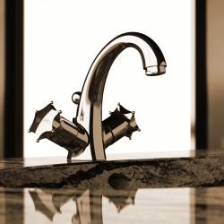 Rubinetto monoforo per lavabo 2 maniglie Miss Daniel Rubinetterie MI5112