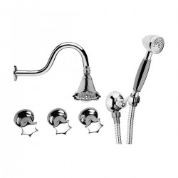 Built-in bathtub mixer with diverter complete Miss Daniel Rubinetterie MI4441