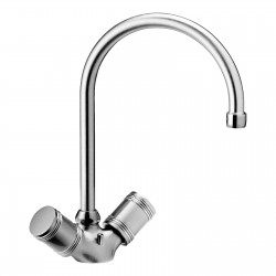 One hole sink mixer with swivel spout Life Daniel Rubinetterie L7100
