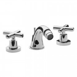 Three holes bidet set with pop-up waste Jax Daniel Rubinetterie J6302