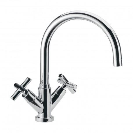 One hole sink mixer with movable spout Jax Daniel Rubinetterie J7100
