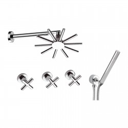 Built-in bathtub mixer with diverter complete of shower kit Jax Daniel Rubinetterie J4441
