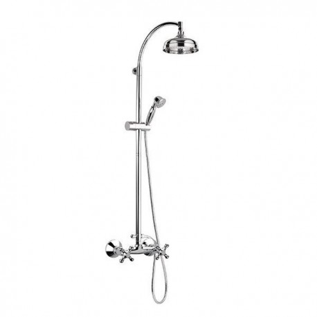 Revival shower mixer with sliding rail column and diverter with shower V4436