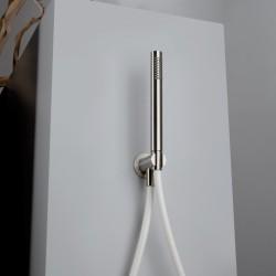Doccetta completa con presa d'acqua e flessibile Borgia Inox Fratelli Frattini 89400
