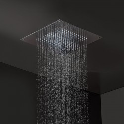 Stainless steel anticalcareous ceiling mounted shower Fratelli Frattini 90912.2