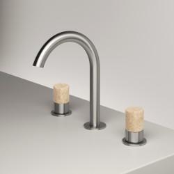 Washbasin set with revolving spout Z316 Inox Zazzeri 33010102A02