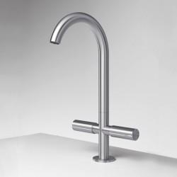 Single-hole high washbasin set Z316 Inox Zazzeri 33013102AL0