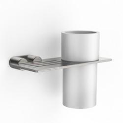 Porta bicchiere da parete con mensola Z316 Inox Zazzeri 33A06200A00