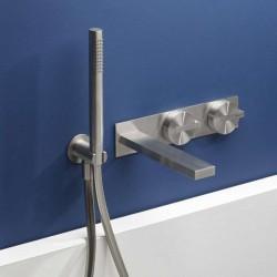 Miscelatore progressivo per vasca ad incasso con placca acciaio inox DOT316 Ritmonio PR50EB102