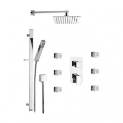 Shower kit with shower head, sliding rail, body jets and mixer with Skyline SK613Z79 diverter