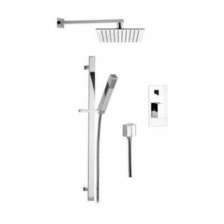 Shower kit with shower head, sliding rail and mixer with Skyline SK614Z79 diverter