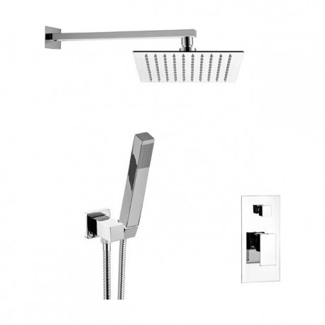 Shower kit with shower head, duplex deluxe shower and mixer with Skyline SK615Z79 diverter