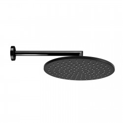Cosmo Black & White Line shower head with shower arm H70596