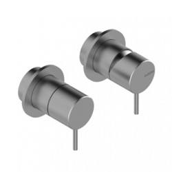 2-ways concealed shower mixer with diverter without plate Z316 Inox Zazzeri 3300A401AA0