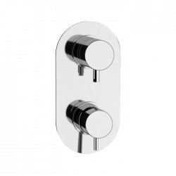 Single lever built-in shower mixer with 3-ways and 3-positions diverter Tokyo Daniel Rubinetterie TK612D3