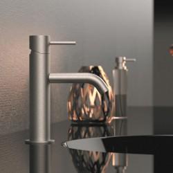 Single lever basin mixer Tokyo Steel Daniel Rubinetterie SSTK605CC -SSTK606N