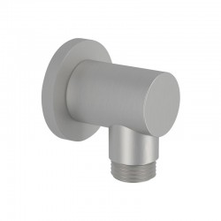 Round water connection fitting in brushed stainless steel Tokyo Steel Daniel Rubinetterie SSA520