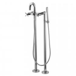 External bath mixer with duplex shower Tesis Fratelli Frattini 51002 - 41573