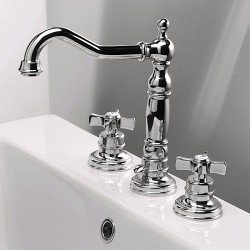 3-hole washbasin mixer with old style spout Musa Fratelli Frattini 23868