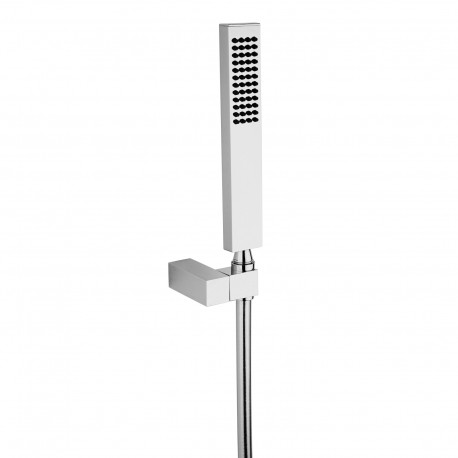 Square brass handshower with hook and flexible Fratelli Frattini 53401