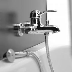 External single-lever bath mixer with duplex shower Morgan Fratelli Frattini 29002