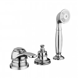 Deck mounted bath mixer with diverter and pull-out shower Morgan Fratelli Frattini 29028