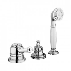 Deck mounted bath mixer with diverter and pull-out shower Morgan Prestige Fratelli Frattini 63028