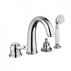 Deck mounted bath mixer with spout Morgan Prestige Fratelli Frattini 63029