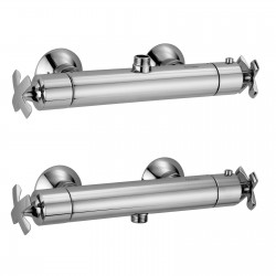 External thermostatic shower mixer with cold body Lucrezia Fratelli Frattini 62620 - 62621