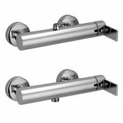 """External single-lever shower mixer with 1/2"""" lower connection Gaia 55006"""
