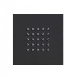 Body spray shower Square Flat Black & White Line Bossini I00176
