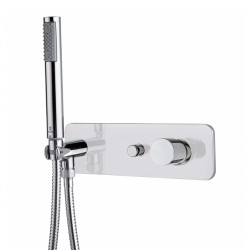 Shower set with single lever mixer with 2-ways diverter and Zen hand shower Bossini Z005361