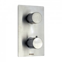 Built-in thermostatic shower with diverter mixer 2/5 outlet Inox Line by Bossini Z00125-INZ003