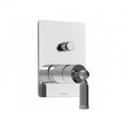 Built-in shower with diverter mixer 2 outlet Oki by Bossini Z00005/Z00006