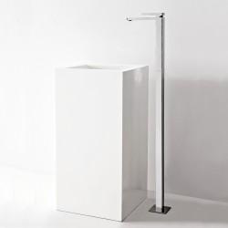 Qquadro column-mounted single lever washbasin mixer - Spout 170 mm