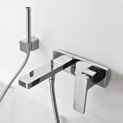 Qquadro rubinetto miscelatore per vasca incasso