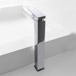 Qquadro high single lever washbasin mixer without plug