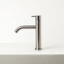 Diametro35 Inox rubinetto miscelatore lavabo bocca d'erogazione flessa E0BA0123CINOX