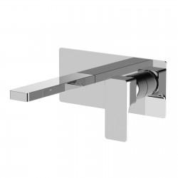 Glitter rubinetto miscelatore monocomando lavabo incasso con placca e bocca d'erogazione mm 192 PR32AH102