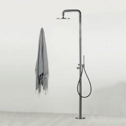 Diametro35 Inox Concrete colonna doccia a pavimento