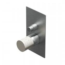 Diametro35 Inox Concrete rubinetto incasso doccia con deviatore