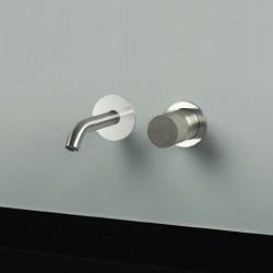 Diametro35 Inox Concrete rubinetto lavabo incasso con bocca d'erogazione flessa