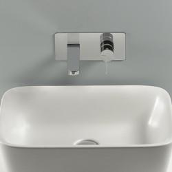 Tie rubinetto miscelatore lavabo incasso con placca PR34AH101