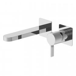 Tie rubinetto miscelatore lavabo incasso senza placca e bocca d'erogazione lunga PR34AH202