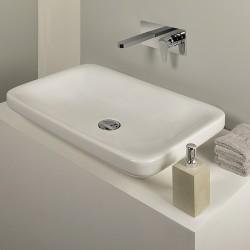 Tip rubinetto lavabo incasso con placca e bocca d'erogazione lunga PR38AH102