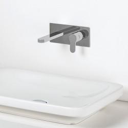 Tab rubinetto lavabo incasso con placca PR37AH101