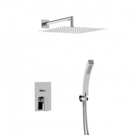 Wings kit doccia completo di rubinetto incasso e soffione a parete (AA050 R WI KIT)