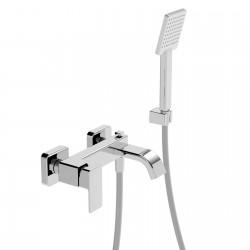 Profili Plus rubinetto miscelatore monocomando per vasca con gancio e accessori 46019