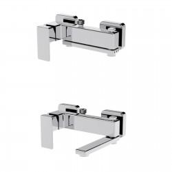Profili Plus miscelatore esterno vasca/doccia con bocca d'erogazione girevole 46025